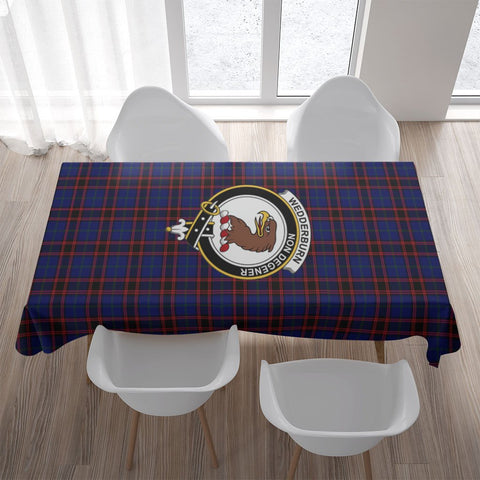 Wedderburn Crest Tartan Tablecloth | Home Decor