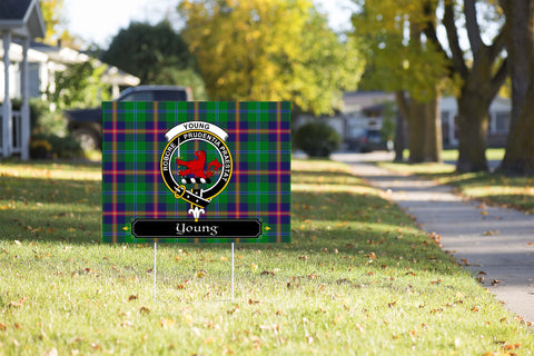 ScottishShop Young Yard Sign - Tartan Crest Yard Sign