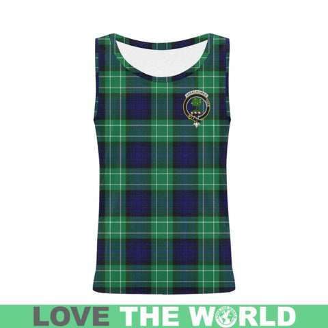 Abercrombie Tartan Clan Badge All Over Print Tank Top Nl25 Xs / Men Tops