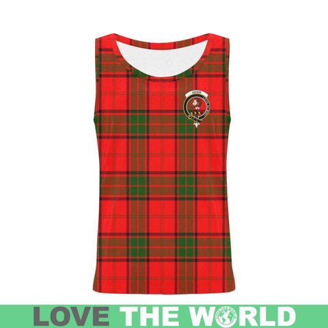 Adair Tartan Clan Badge All Over Print Tank Top Nl25 Xs / Men Tops