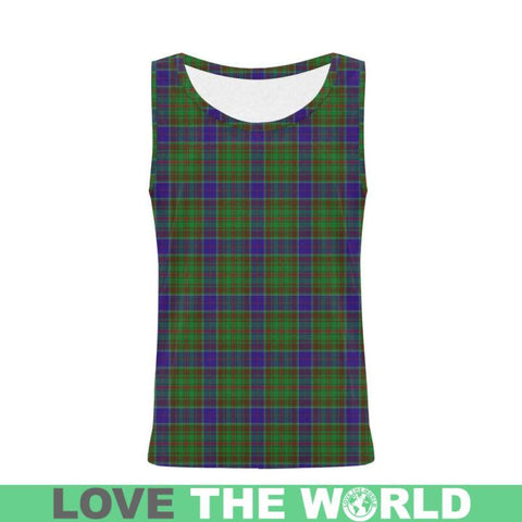 Image of Adam Tartan All Over Print Tank Top Nl25 Xs / Men Tops