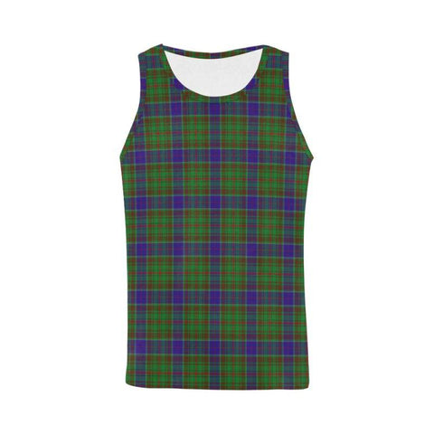 Adam Tartan All Over Print Tank Top Nl25 Xs / Men Tops