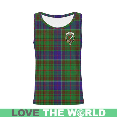 Adam Tartan Clan Badge All Over Print Tank Top Nl25 Xs / Men Tops