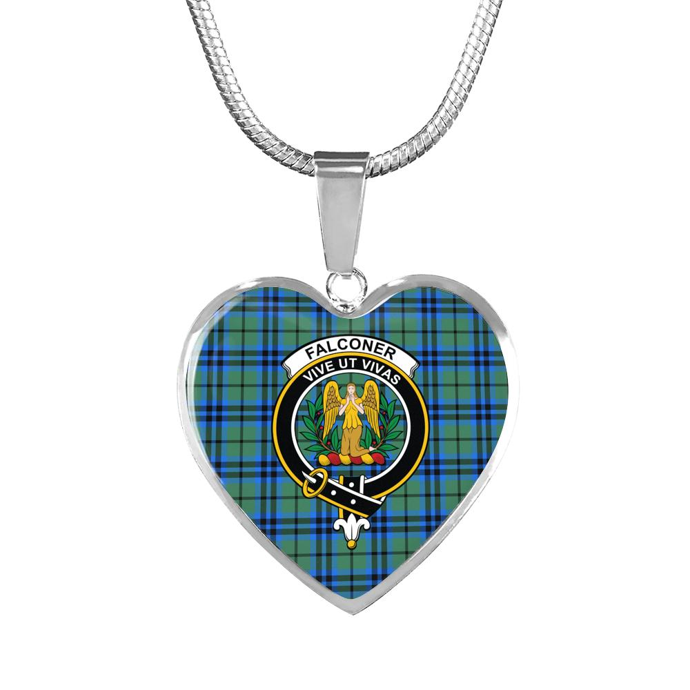 Falconer - Crest Tartan Heart Necklace