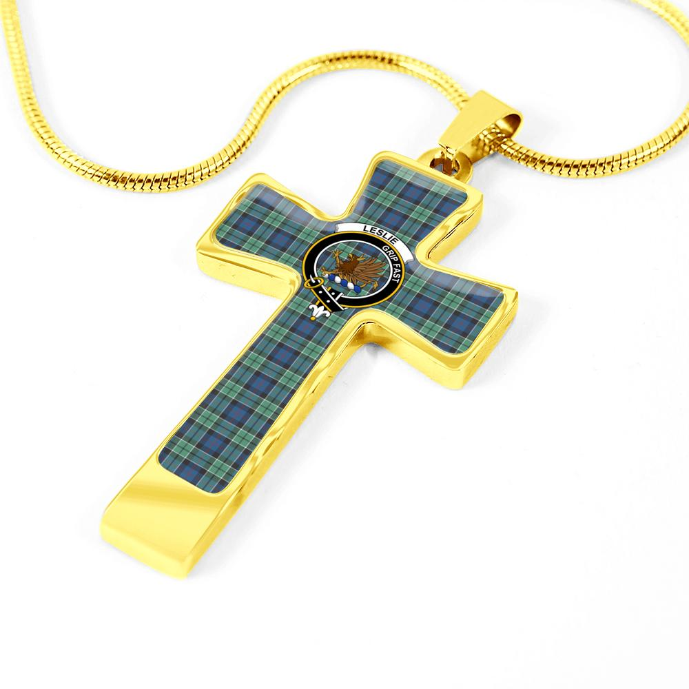 Leslie (Earl Of Rothes) - Tartan Cross Necklace