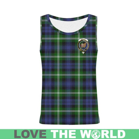 Image of Baillie Modern Tartan Clan Badge All Over Print Tank Top Nl25 Xs / Men Tops