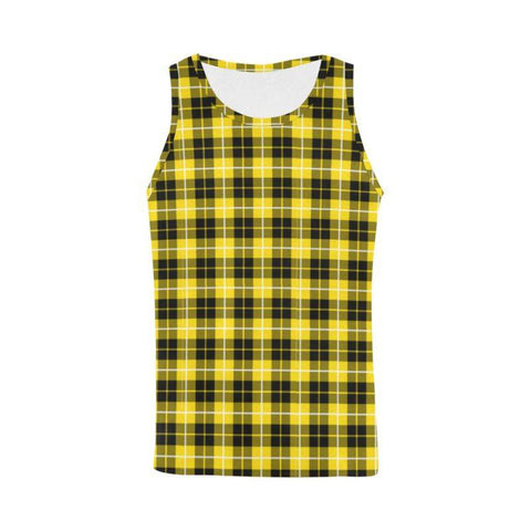 Barclay Dress Modern Tartan All Over Print Tank Top Nl25 Xs / Men Tops