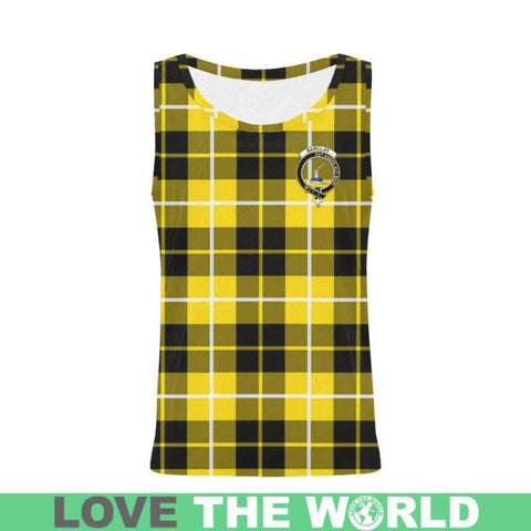Barclay Dress Modern Tartan Clan Badge All Over Print Tank Top Nl25 Xs / Men Tops