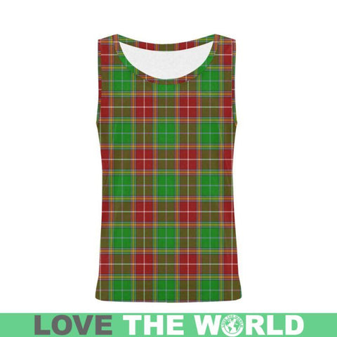 Baxter Modern Tartan All Over Print Tank Top Nl25 Xs / Men Tops