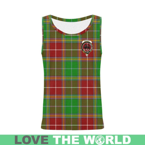 Baxter Modern Tartan Clan Badge All Over Print Tank Top Nl25 Xs / Men Tops