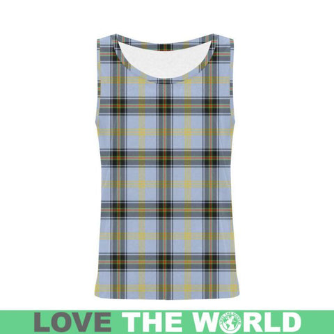 Bell Of The Borders Tartan All Over Print Tank Top Nl25 Xs / Men Tops