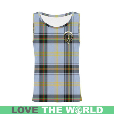 Bell Of The Borders Tartan Clan Badge All Over Print Tank Top Nl25 Xs / Men Tops