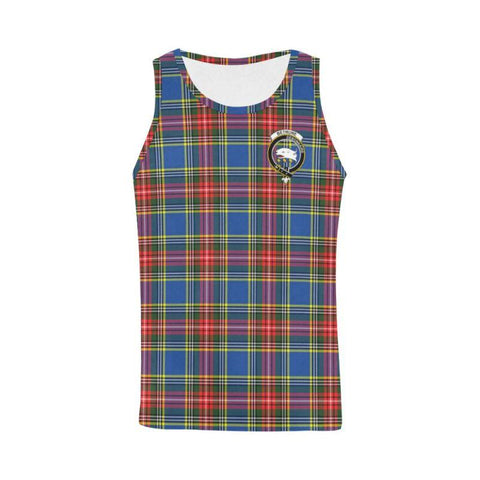 Bethune Tartan Clan Badge All Over Print Tank Top Nl25 Xs / Men Tops