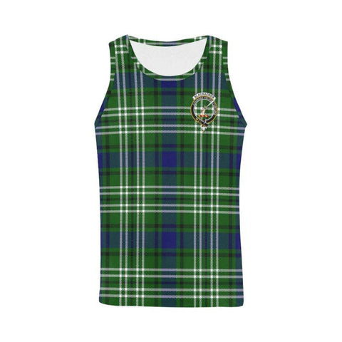 Blackadder Tartan Clan Badge All Over Print Tank Top Nl25 Xs / Men Tops