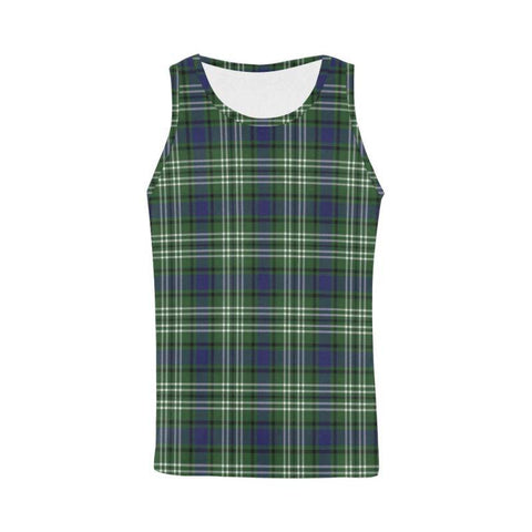 Blyth _ Tweeside District Tartan All Over Print Tank Top Nl25 Xs / Men Tops