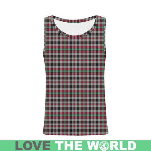 Image of Borthwick Ancient Tartan All Over Print Tank Top Nl25 Xs / Men Tops