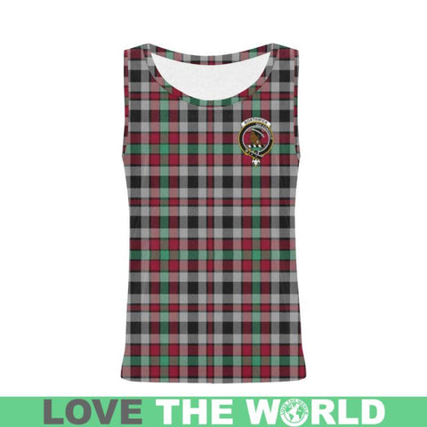 Borthwick Ancient Tartan Clan Badge All Over Print Tank Top Nl25 Xs / Men Tops