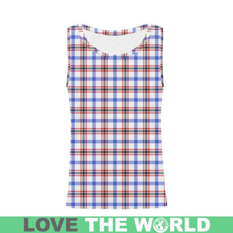 Image of Boswell Modern Tartan All Over Print Tank Top Nl25 Xs / Men Tops