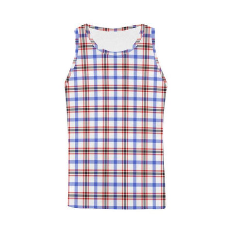 Boswell Modern Tartan All Over Print Tank Top Nl25 Xs / Men Tops