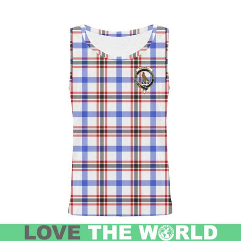 Image of Boswell Modern Tartan Clan Badge All Over Print Tank Top Nl25 Xs / Men Tops