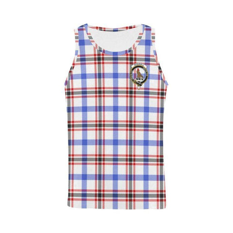 Boswell Modern Tartan Clan Badge All Over Print Tank Top Nl25 Xs / Men Tops