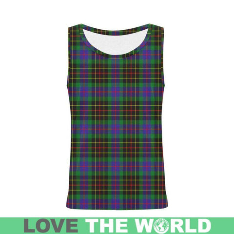 Brodie Hunting Modern Tartan All Over Print Tank Top Nl25 Xs / Men Tops