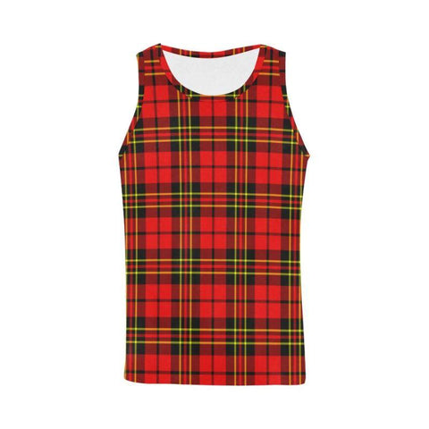 Brodie Modern Tartan All Over Print Tank Top Nl25 Xs / Men Tops