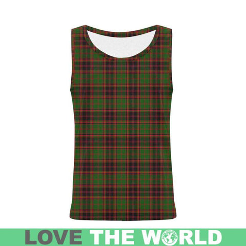 Buchan Modern Tartan All Over Print Tank Top Nl25 Xs / Men Tops