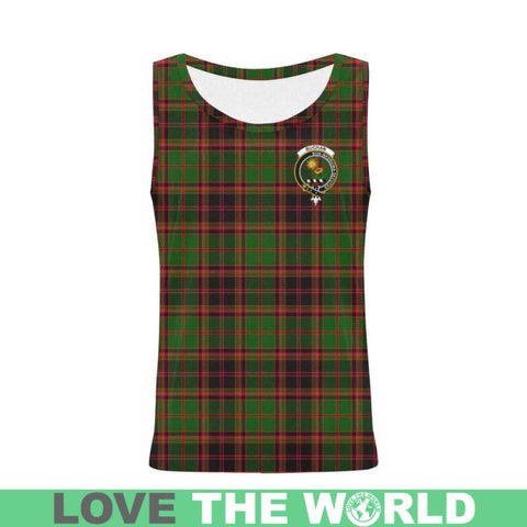 Buchan Modern Tartan Clan Badge All Over Print Tank Top Nl25 Xs / Men Tops