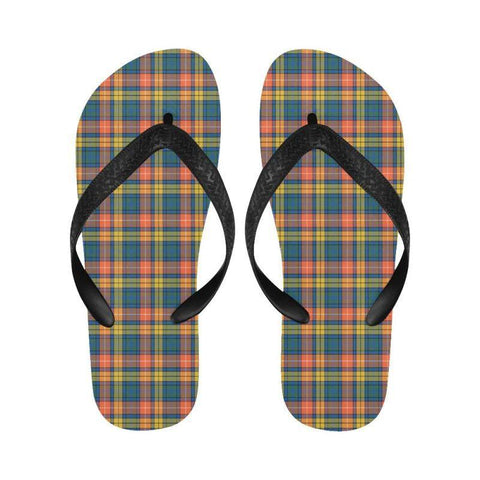 Buchanan Ancient Tartan Flip Flops For Men/women S9 Unisex
