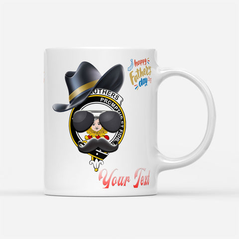 Father Day Tartan Mug - Carruthers Badge Custom Mug
