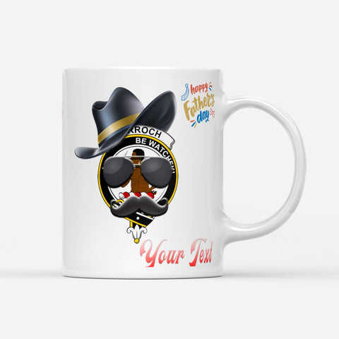 Father Day Tartan Mug - Darroch  Badge Custom Mug