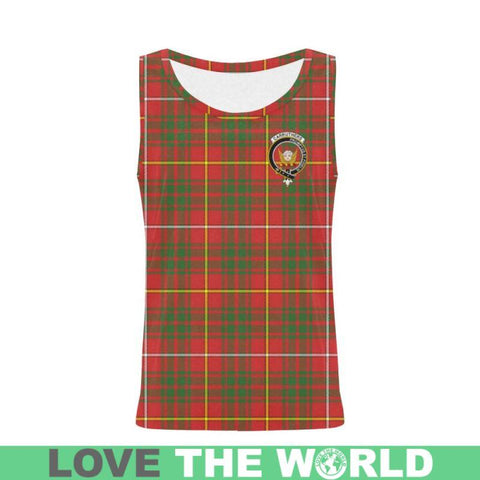 Carruthers Modern Tartan Clan Badge All Over Print Tank Top Nl25 Xs / Men Tops