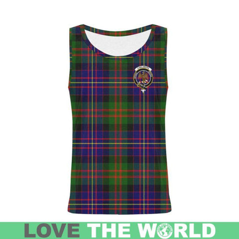 Chalmers Modern Tartan Clan Badge All Over Print Tank Top Nl25 Xs / Men Tops