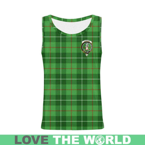 Clephan (Or Clephane) Tartan Clan Badge All Over Print Tank Top Nl25 Xs / Men Tops