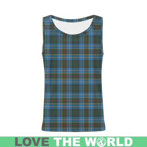 Cockburn Modern Tartan All Over Print Tank Top Nl25 Xs / Men Tops