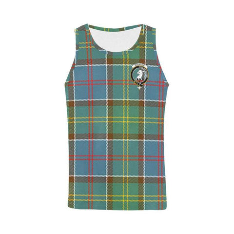 Colville District Tartan Clan Badge All Over Print Tank Top Nl25 Xs / Men Tops
