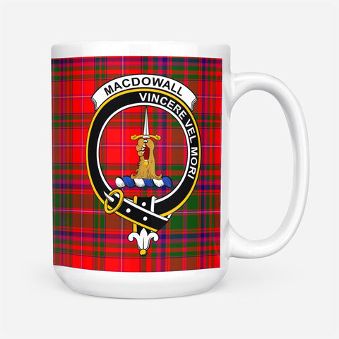 Image of ScottishShop Custom Tartan Mug MacDowall (of Garthland) Tartan Mug