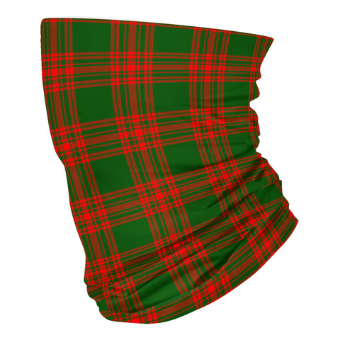 Scottish Menzies Green Modern Tartan Neck Gaiter  (USA Shipping Line)