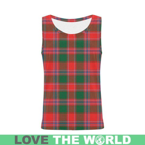 Dalziel Modern Tartan All Over Print Tank Top Nl25 Xs / Men Tops