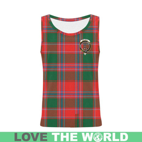Dalziel Modern Tartan Clan Badge All Over Print Tank Top Nl25 Xs / Men Tops