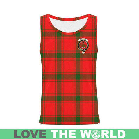 Darroch Tartan Clan Badge All Over Print Tank Top Nl25 Xs / Men Tops