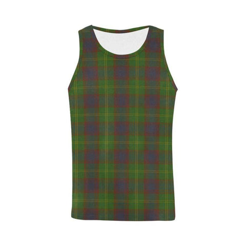 Durie Tartan All Over Print Tank Top Nl25 Xs / Men Tops