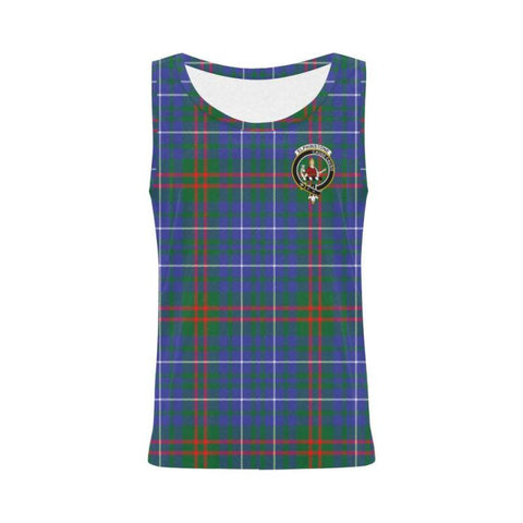 Edmonstone Tartan Clan Badge All Over Print Tank Top Nl25 S / Women Tops