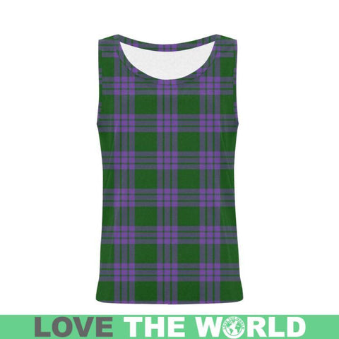Image of Elphinstone Tartan All Over Print Tank Top Nl25 Xs / Men Tops