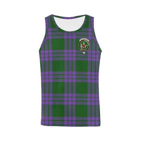 Image of Elphinstone Tartan Clan Badge All Over Print Tank Top Nl25 Xs / Men Tops