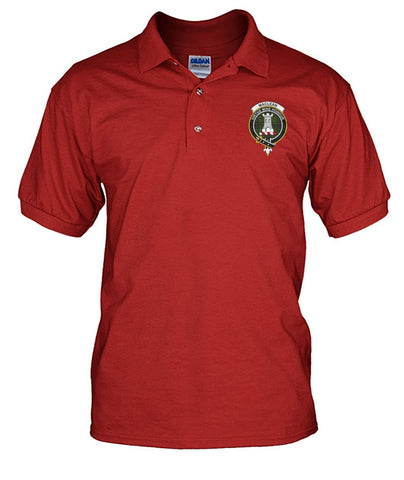 Image of Polo T-Shirt - MacLean Tartan Polo T-shirt for Men and Women