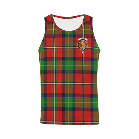 Fairlie Modern Tartan Clan Badge All Over Print Tank Top Nl25 Xs / Men Tops