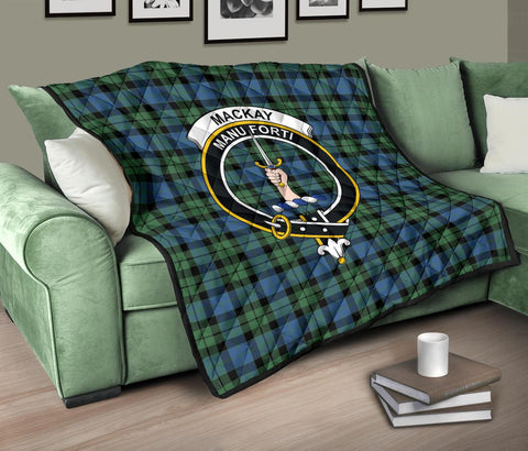 Premium Quilt - MacKay Ancient Tartan Quilt - Clan Crest TH8