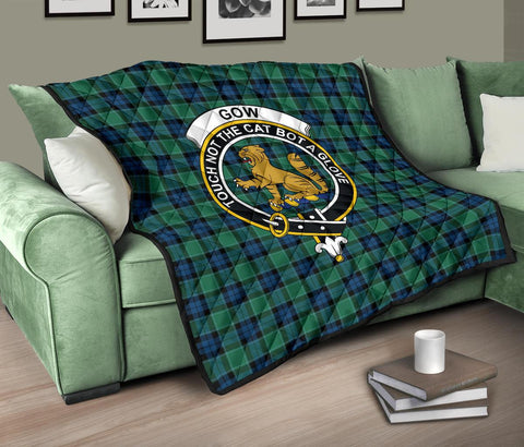 Premium Quilt - Graham of Menteith Ancient Tartan Quilt - Clan Crest TH8